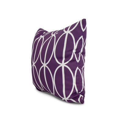 Carmack Ovals Throw Pillow Color: Purple, Size: 18 x 18
