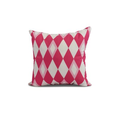 Secrest Throw Pillow Color: Pink, Size: 20 x 20