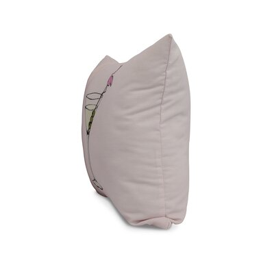 Carmack Throw Pillow Color: Pale Pink, Size: 18 x 18