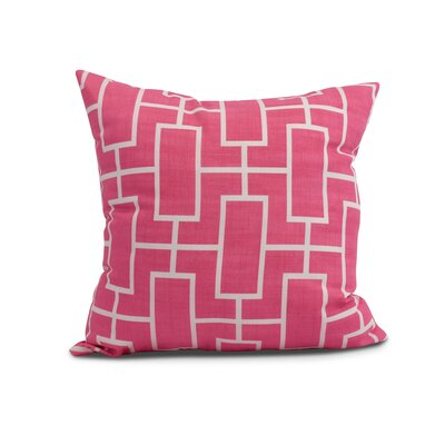 Cawley Lattice Geometric Print Indoor/Outdoor Throw Pillow Color: Pink/Fushcia, Size: 18