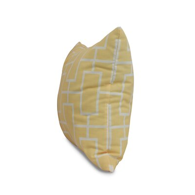 Carmack Throw Pillow Color: Yellow, Size: 16 x 16