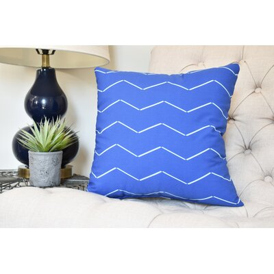 Secrest Throw Pillow Color: Royal Blue, Size: 18 x 18