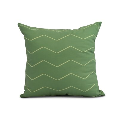 Meehan Stripe Geometric Print Indoor/Outdoor Throw Pillow Color: Green, Size: 18 x 18