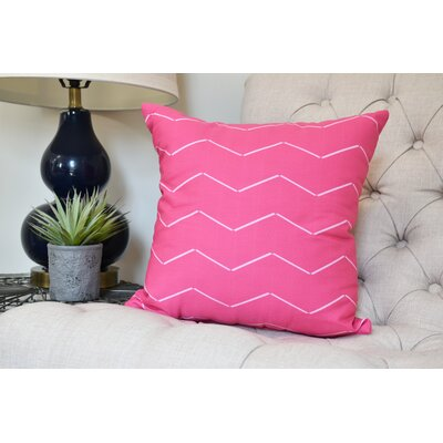 Secrest Throw Pillow Color: Pink, Size: 16 x 16