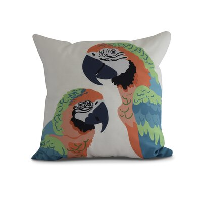 Kichler Macaw Close Up Indoor/Outdoor Throw Pillow Color: Orange, Size: 16 x 16