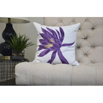 Memmott Throw Pillow Color: Purple, Size: 18 x 18