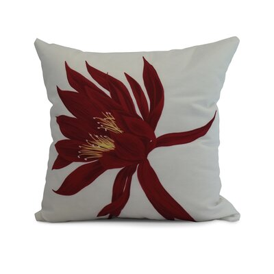 Memmott Throw Pillow Color: Red, Size: 18 x 18