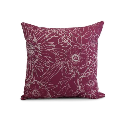 Derick Floral Print Throw Pillow Color: Pink, Size: 18 x 18