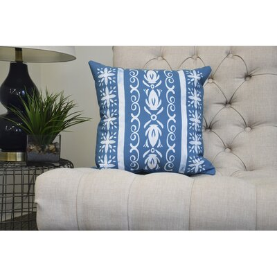 Casto Tile Throw Pillow Color: Teal, Size: 18 x 18