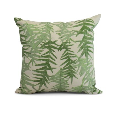 Randall Floral Print Indoor/Outdoor Throw Pillow Color: Green, Size: 18 x 18