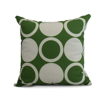 Meekins Mod Circles Geometric Print Indoor/Outdoor Throw Pillow Color: Green, Size: 16 x 16
