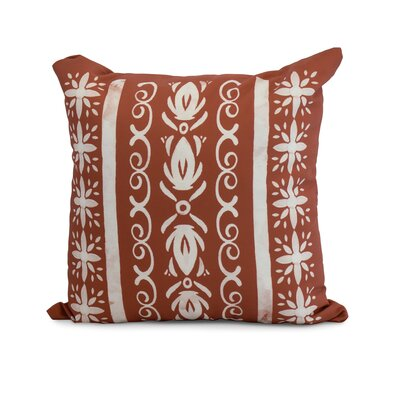 Casto Tile Throw Pillow Color: Red/Orange, Size: 16 x 16