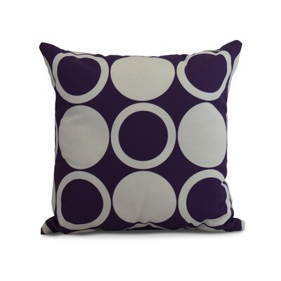 Memmott Mod Circles Throw Pillow Color: Purple, Size: 18 x 18