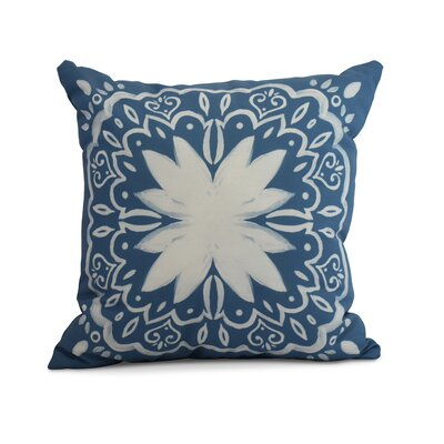 Casto Tile Throw Pillow Color: Teal, Size: 16 x 16