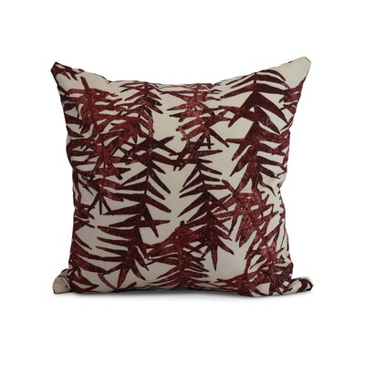 Randall Floral Print Indoor/Outdoor Throw Pillow Color: Red, Size: 18 x 18