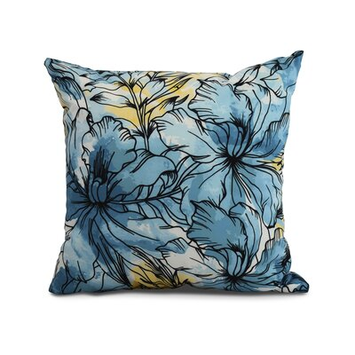 Randall Floral Print Indoor/Outdoor Throw Pillow Color: Teal, Size: 16 x 16