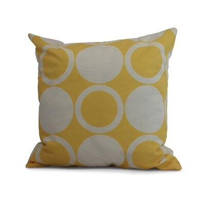 Memmott Mod Circles Throw Pillow Color: Yellow, Size: 18 x 18