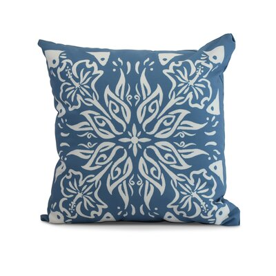Drucker Tile Throw Pillow Color: Teal, Size: 18 x 18
