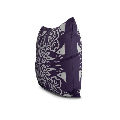 Drucker Tile Throw Pillow Color: Purple, Size: 16 x 16