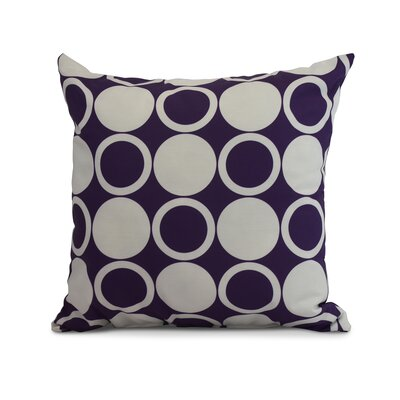 Meekins Small Modcircles Geometric Print Indoor/Outdoor Throw Pillow Color: Purple, Size: 16 x 16