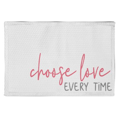 Speight Choose Love Every Time White Area Rug