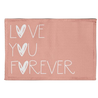 Ferreira Love You Forever Pink Area Rug