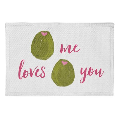 Spengler Olive Me Loves You White Area Rug