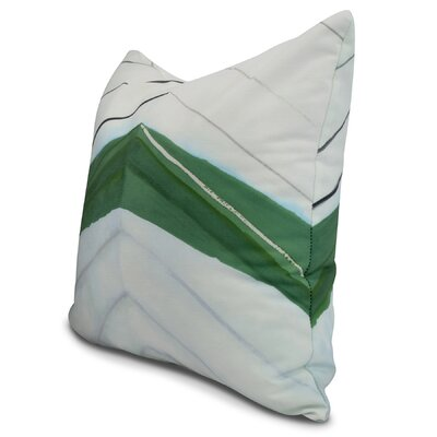 Harriet Boat Bow Print Throw Pillow Color: Green, Size: 18 x 18