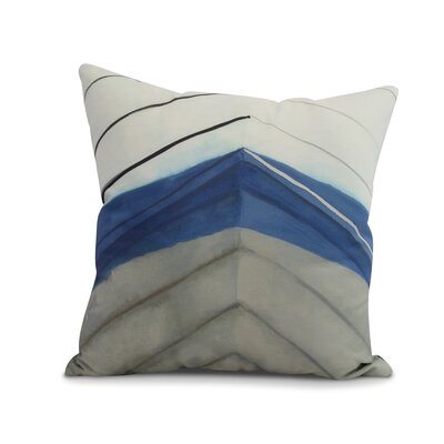 Harriet Boat Bow Print Throw Pillow Color: Taupe, Size: 18 x 18