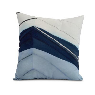 Crider Boat Bow Left Print Indoor/Outdoor Throw Pillow Color: Blue, Size: 18 x 18