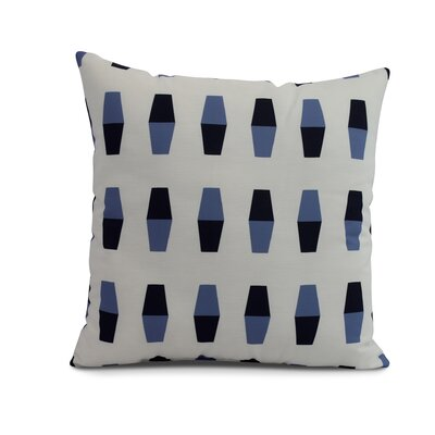 Harriet Bowling Pins Throw Pillow Color: Navy, Size: 16 x 16