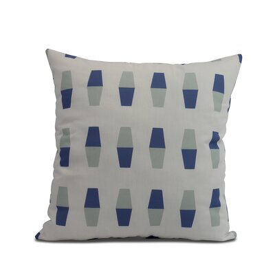 Harriet Bowling Pins Throw Pillow Color: Blue, Size: 16 x 16