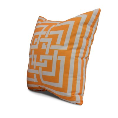 Clarisse Throw Pillow Color: Yellow, Size: 18 x 18