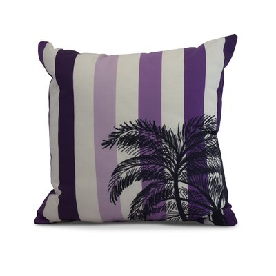 Shetland Print Throw Pillow Color: Purple, Size: 20 x 20