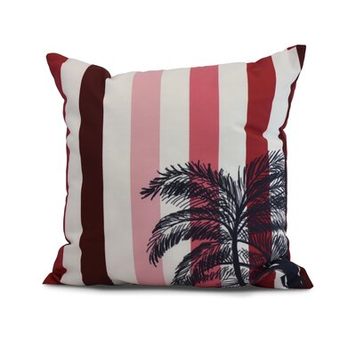Shetland Print Throw Pillow Color: Red, Size: 16 x 16