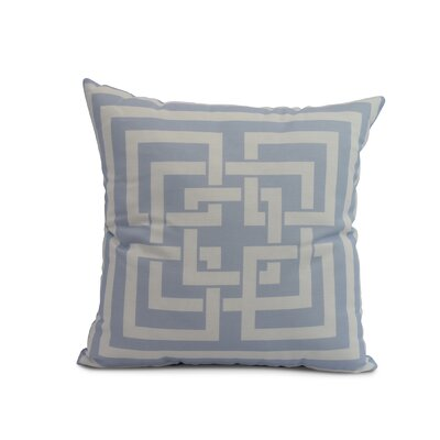 Clarisse Throw Pillow Color: Blue, Size: 26 x 26