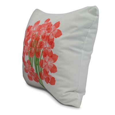 Chavis Throw Pillow Color: Orange, Size: 16 x 16