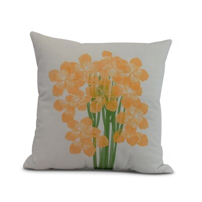 Chavis Throw Pillow Color: Yellow, Size: 18 x 18