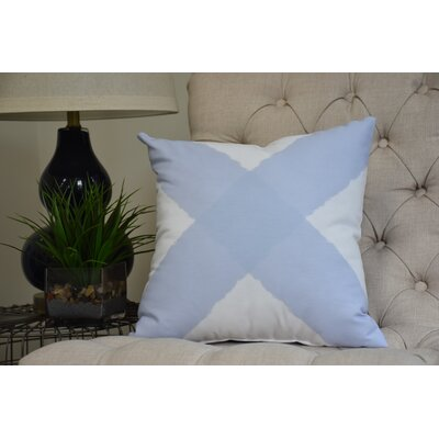 Harriet X Mark Throw Pillow Color: Blue, Size: 16 x 16
