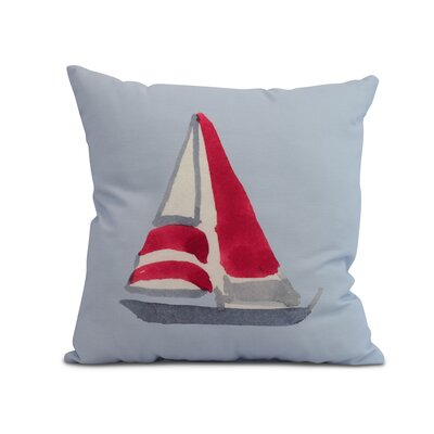 Crider Sail Away Print Indoor/Outdoor Throw Pillow Color: Blue, Size: 18 x 18