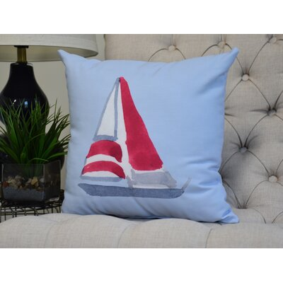 Harriet Sail Away Throw Pillow Color: Blue, Size: 18 x 18