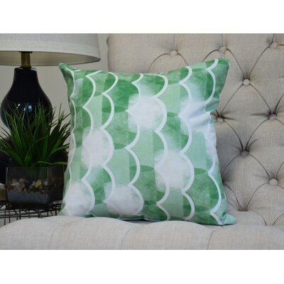 Harriet Throw Pillow Color: Green, Size: 26 x 26