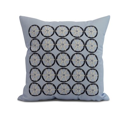 Harriet Nautical Print Throw Pillow Color: Blue, Size: 16 x 16