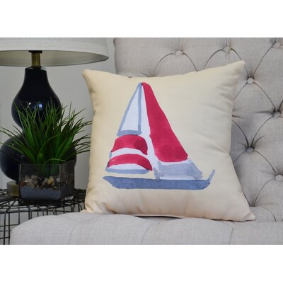 Harriet Sail Away Throw Pillow Color: Yellow, Size: 20 x 20
