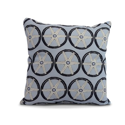 Crider Nautical Geo Lines Geometric Print Indoor/Outdoor Throw Pillow Color: Blue, Size: 18