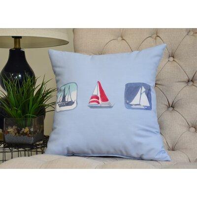 Harriet Print Throw Pillow Color: Light Blue, Size: 26 x 26