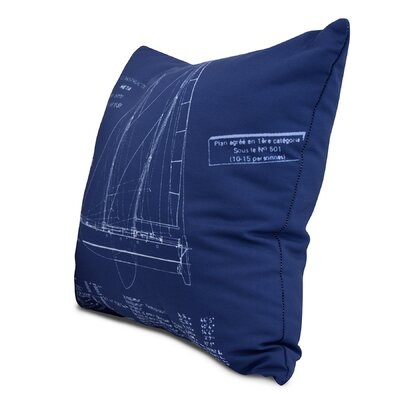 Harriet Sail Plan Throw Pillow Size: 18 x 18