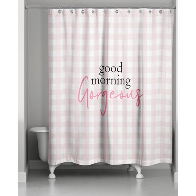 Fernald Good Morning Gorgeous Shower Curtain