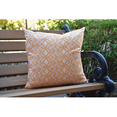 Crider Simple Geometric Print Indoor/Outdoor Throw Pillow Color: Yellow, Size: 16 x 16