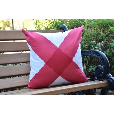 Crider X Marks the Spot Geometric Print Indoor/Outdoor Throw Pillow Color: Red, Size: 18 x 18